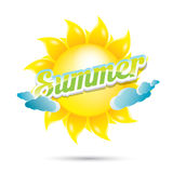 Vector summer label. summer icon with sun. Stock Photography