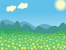 Vector summer landscape Stock Photo