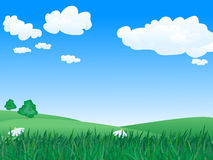 Vector summer  landscape Royalty Free Stock Photography
