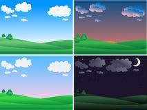 Vector summer landscape vector illustration