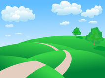Vector summer  landscape Royalty Free Stock Images
