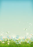 Vector Summer landscape stock illustration