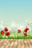 Vector Summer Landscape Royalty Free Stock Image