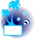 Vector summer palm frame Royalty Free Stock Photography