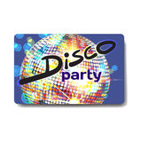 Vector summer party flyer disco style. Night beach, dj Stock Images