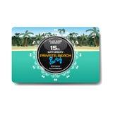 Vector summer party flyer. Landscape tropical beach Royalty Free Stock Photos