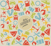 Vector summer pattern / background Royalty Free Stock Image