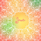 Vector summer pattern of spirals, swirls, chains Stock Photo