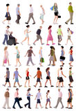 Vector summer people Stock Images