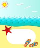Vector summer poster. With text area Royalty Free Stock Photo