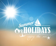 Vector summer poster Stock Image