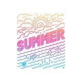 Vector summer poster Stock Photos
