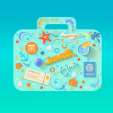 Vector summer poster made from icons Royalty Free Stock Photography