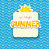 Vector summer sale bright label design template . Stock Photos