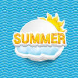 Vector summer sale bright label design template . Royalty Free Stock Photo
