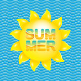 Vector summer sale bright label design template . Stock Photography