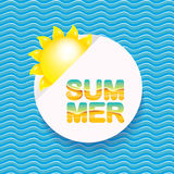 Vector summer sale bright label design template . Stock Photo