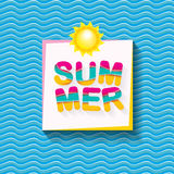 Vector summer sale bright label design template . Stock Images