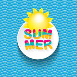 Vector summer sale bright label design template . Royalty Free Stock Image