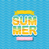 Vector summer sale bright label design template . Royalty Free Stock Photos