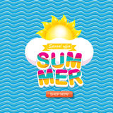 Vector summer sale bright label design template . Royalty Free Stock Photography