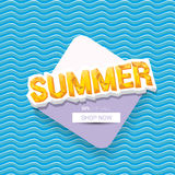 Vector summer sale bright label design template . Royalty Free Stock Images