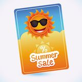 Vector summer sale coupon - sun and discount Royalty Free Stock Photography