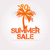Vector summer sale design. Stock Photography
