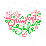 Vector Summer Sale design with lettering in soft colors Stock Photo