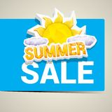 Vector Summer Sale Label Or Sticker Stock Photo