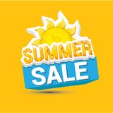 Vector summer sale label or sticker Royalty Free Stock Images