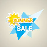 Vector summer sale label or sticker Royalty Free Stock Photography