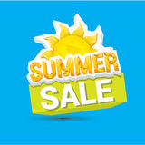 Vector summer sale label or sticker Royalty Free Stock Photos
