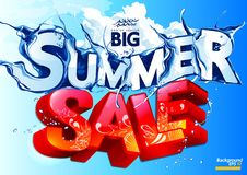 Vector Summer Sale Water Wave vector illustration