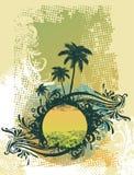 Vector summer scene royalty free illustration