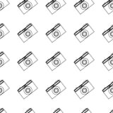 Summer patterns. Vector summer seamless pattern. photo camera on white background royalty free illustration