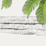 Summer seascape sketch Stock Image