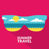 Vector summer travel colorful abstract background with place for Stock Images