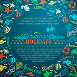 Vector summer vacation background. Stock Images