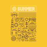 Vector summer and vacation poster royalty free illustration