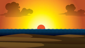 Vector summer wallpaper sunset Royalty Free Stock Photos