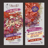 Vector summer watercolor paint party flyer design Stock Images