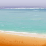 Vector Summertime at the beach Royalty Free Stock Photography
