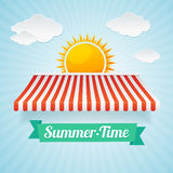 Vector summertime card Stock Photography