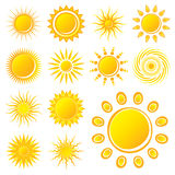 Vector Sun. S on White Background Royalty Free Stock Photo