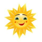 Vector sun. Cartoon bright picture Stock Photos