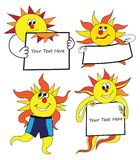 Vector Sun Characters collection Stock Image