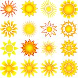 Vector sun collection Stock Image