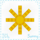 Vector sun design Royalty Free Stock Photo