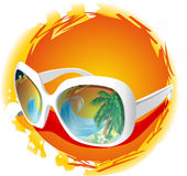 Vector sun glasses Royalty Free Stock Images
